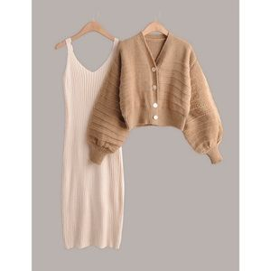 Cami Sweater Dress and Sweater Two Piece
